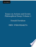 Essays on Actions and Events Book