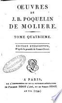 Oeuvres de J. B. Poquelin de Moliere. Tome premier [-huitieme]