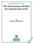 The Elementary Method for Soprano Recorder Book