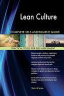 Lean Culture Complete Self assessment Guide Book