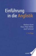 Einführung in die Anglistik