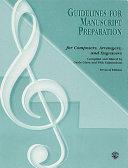 Guidelines for Manuscript Preparation  Revised 2002