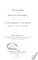 Lectures to Practitioners