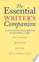 The Essential Writer S Companion