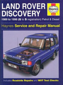Land Rover Discovery Service and Repair Manual