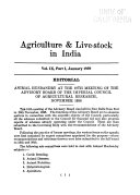Agriculture and Live stock in India