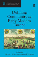 Defining Community in Early Modern Europe