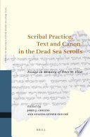 Scribal Practice  Text and Canon in the Dead Sea Scrolls