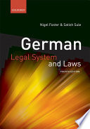 German Legal System and Laws Book
