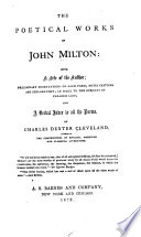 The Poetical Works of John Milton Book