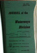 Journal Of The Waterways Division