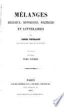 Mélanges religieux, historiques, politiques et litteraires