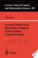 Inversion Method In The Discrete Time Nonlinear Control Systems Synthesis Problems