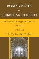 Roman State   Christian Church Volume 3