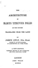 The Architecture of Marcus Vitruvius Pollio