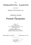 Therapeutic Gazette Book