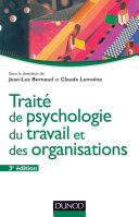 Pdf Traité de psychologie du travail et des organisations - 3ème édition Telecharger