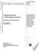 Capital Structures in Developing Countries