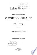 Abhandlungen der Naturhistorischen Gesellschaft zu Nürnberg