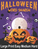 Halloween Word Search Large Print Easy Medium Hard