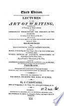 Lectures on the art of writing Book