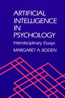 Cover of Artificial Intelligence in Psychology