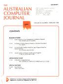 The Australian Computer Journal