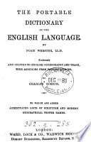 The portable dictionary of the English language Book