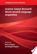 Learner Corpus Research Meets Second Language Acquisition