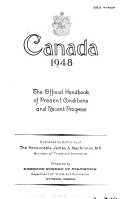 Canada      an Official Handbook of Present Conditions and Recent Progress
