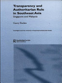 Pdf Transparency and Authoritarian Rule in Southeast Asia Telecharger