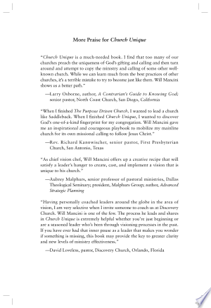 Free Download Church Unique PDF - Writers Club