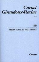 Carnet Giraudoux-Racine