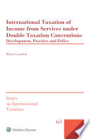 International Taxation Of Income From Services Under Double Taxation Conventions