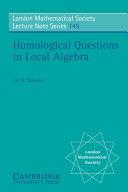 Homological Questions In Local Algebra