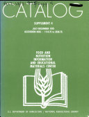Catalog  Supplement   Food and Nutrition Information and Educational Materials Center