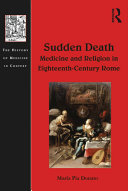 Pdf Sudden Death: Medicine and Religion in Eighteenth-Century Rome Telecharger