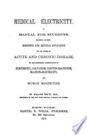 Medical Electricity. A Manual for Students