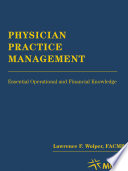 Physician Practice Management (use Paperback Reprint 4432-1)