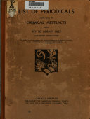 Chemical Abstracts List Of Periodicals Abstracted