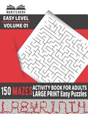 Activity Book for Adults   Mazes