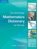 Books - The Cambridge Mathematics Dictionary For Schools | ISBN 9780521708821
