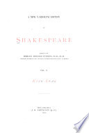 A New Variorum Edition of Shakespeare: King Lear. 4th ed. 1880