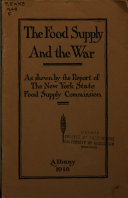 The Food Supply and the War
