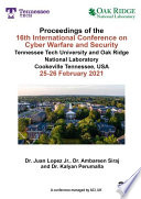 16th International Conference On Cyber Warfare And Security