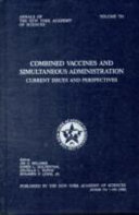 Combined Vaccines and Simultaneous Administration Book
