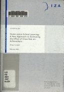 Home Versus School Learning