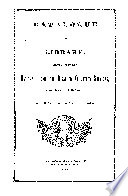 Catalogue of Library, Belonging to the National Home for Disabled Volunteer Soldiers, (Northwestern Branch) near Milwaukee, Wisconsin