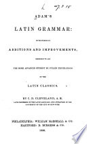 Adam s Latin Grammar Book