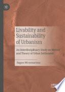 Livability and Sustainability of Urbanism